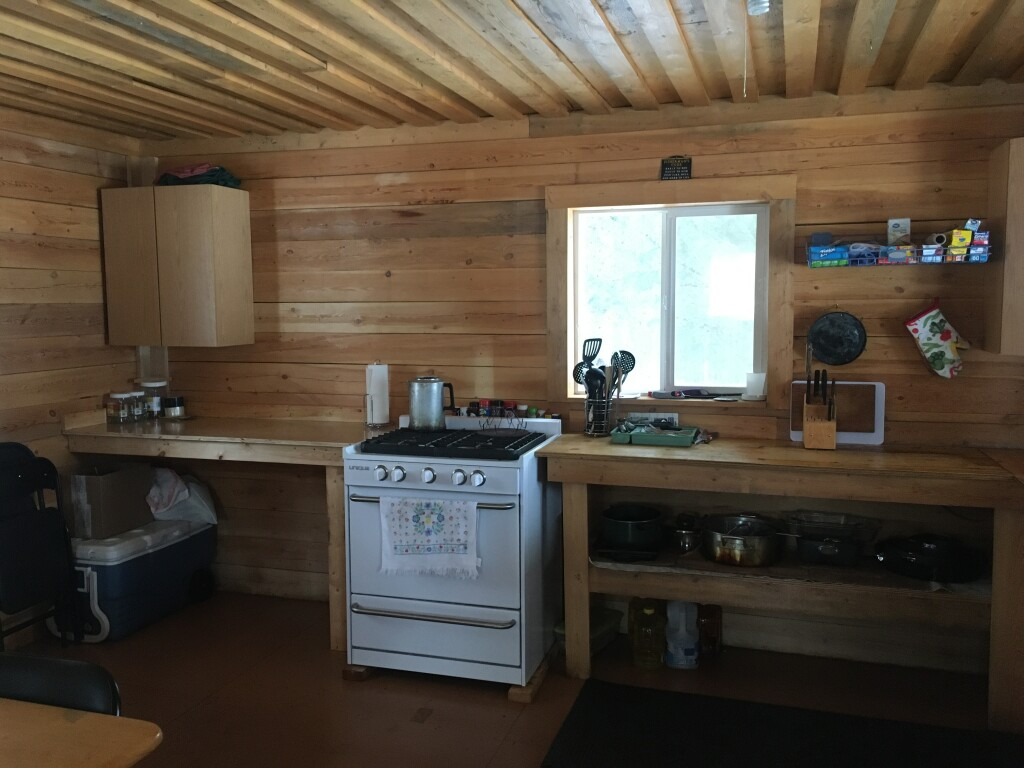 New (2020) stove in kitchen cabin