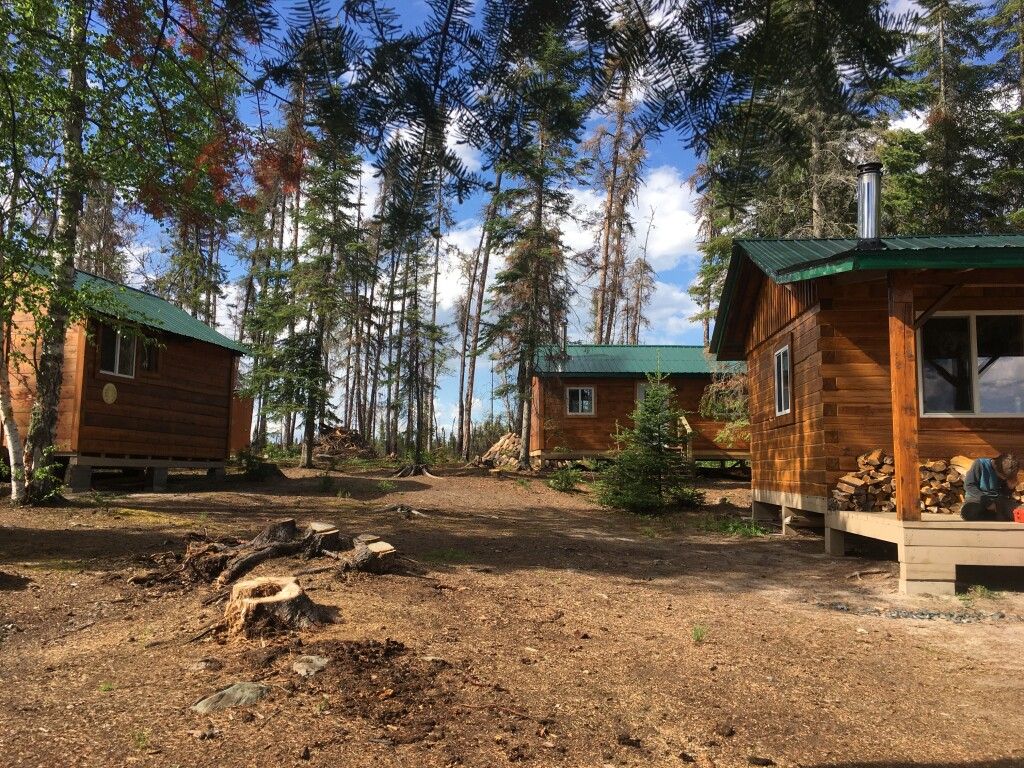 kitchen cabin, Sleeping cabin (in back) and storage building