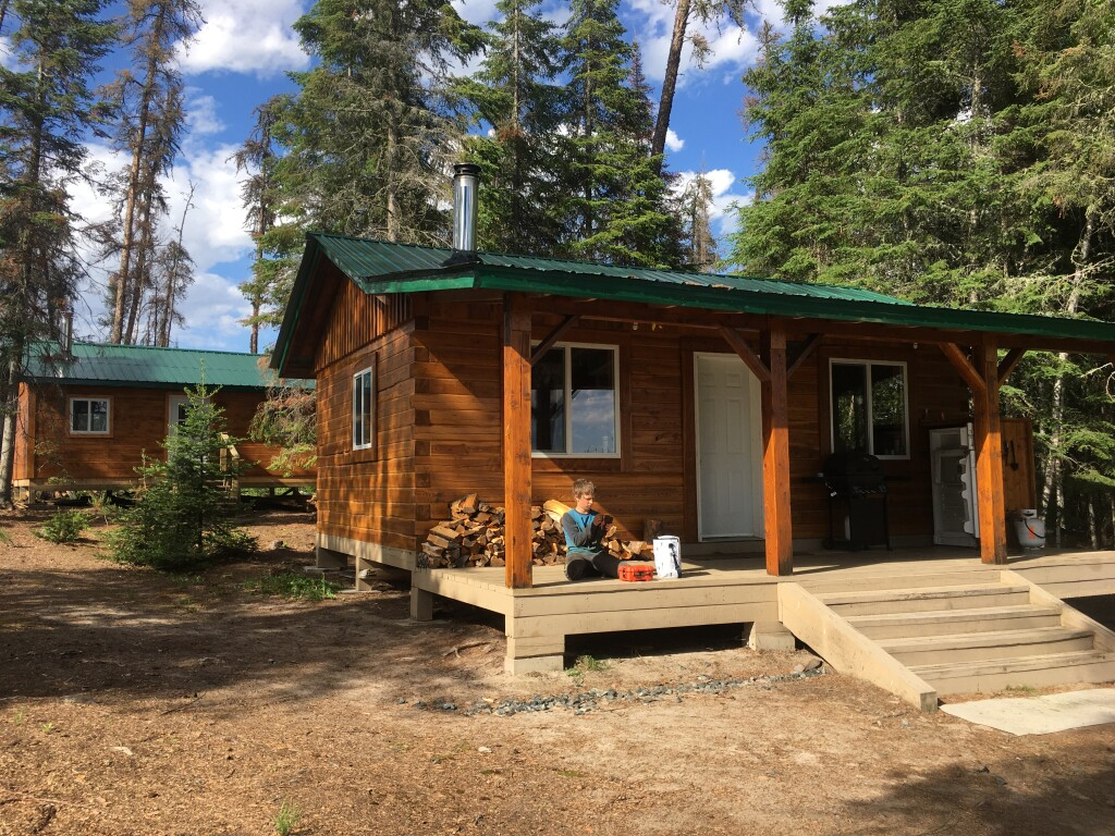 Kitchen cabin in front and sleeping cabin in back